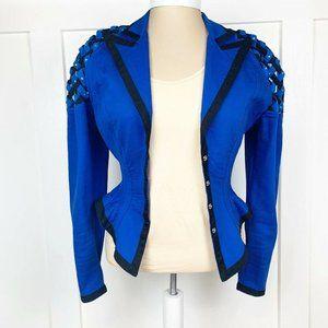 Vintage 80s IIF Cropped Weaved Shoulder Jacket